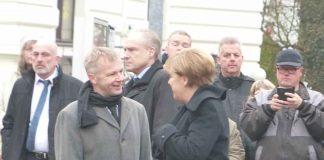 Otto Neuhoff Bürgermeister Bad honnef und Angela Merkel Bundeskanzlerin