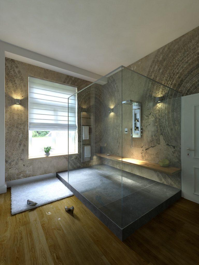 Exclusive Bäder - Badplanung - Badgestaltung - Badezimmer Planung für ein zeitloses Lifestyle Design im Badezimmer Dusche