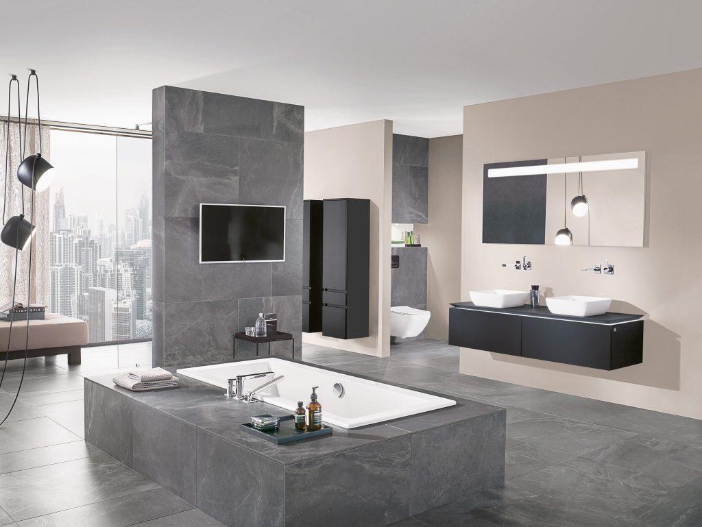Ein Bad, Das Beeindruckt: Die Farbe Grau Verbindet Purismus, Ausdruck,  Unaufgeregtheit Und