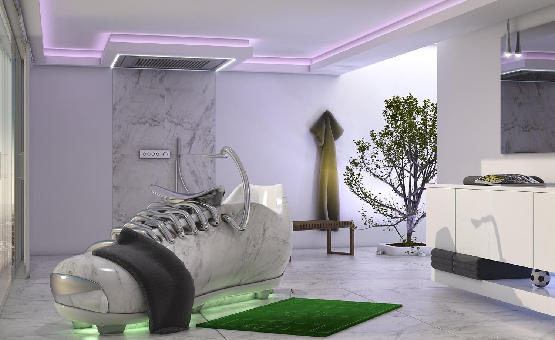 Badezimmer Konzept vom Designer Torsten Müller aus Bad Honnef zur WM 2018