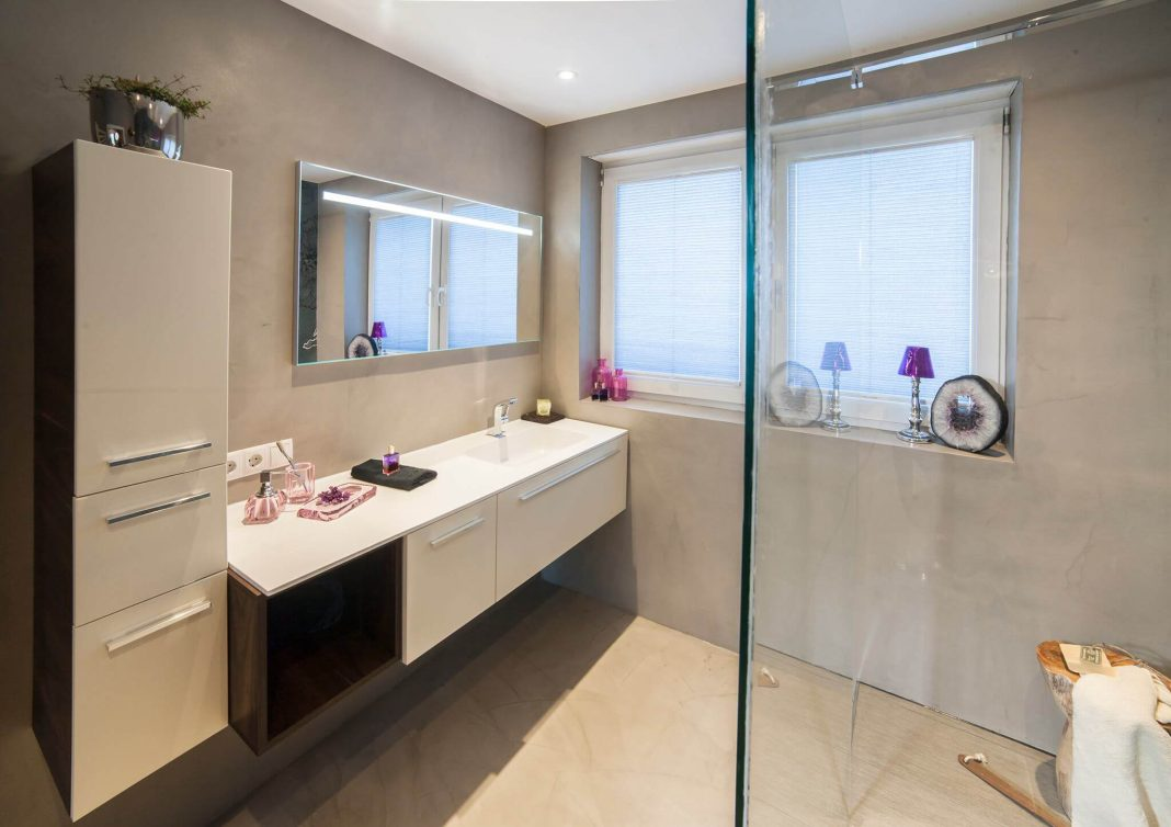 Fugenlose Badgestaltung ohne Fliesen Baddesign Design by Torsten Müller Bad Honnef Köln Bonn New