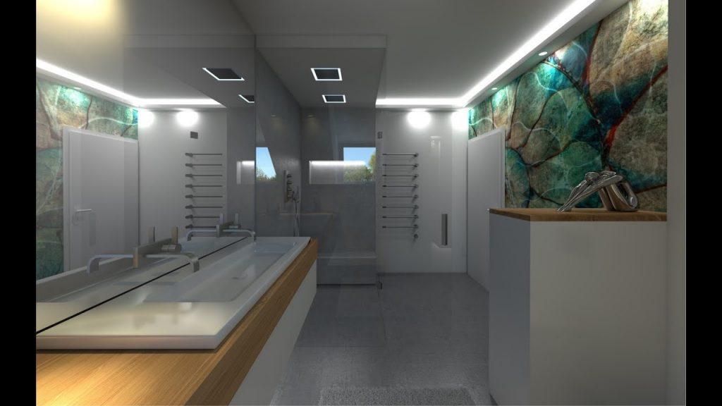 Fugenlose Badgestaltung mit Tapete in der Dusche🥇