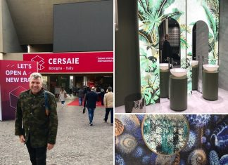 Trendscout Torsten Müller auf den Messen Cersaie 2019 in Bologna und bei Antolini Naturstein in Verona