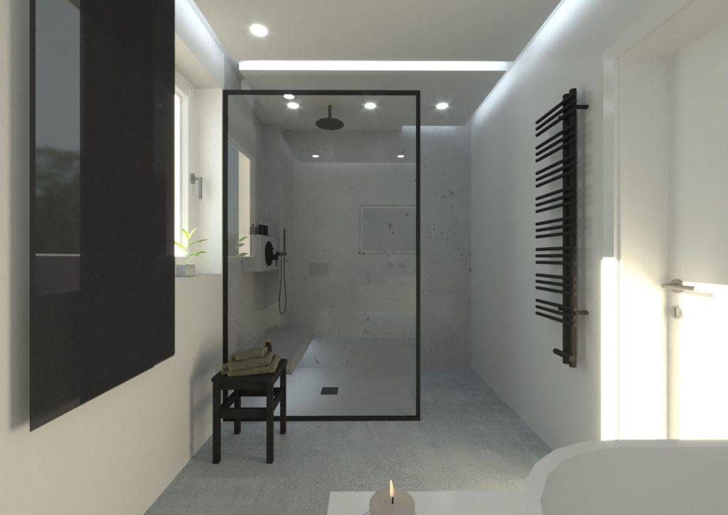 Bad ohne Fliesen