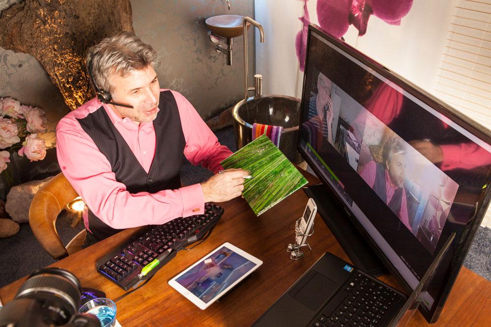 Designer Torsten Müller im VideocallFreie Marktwirtschaft